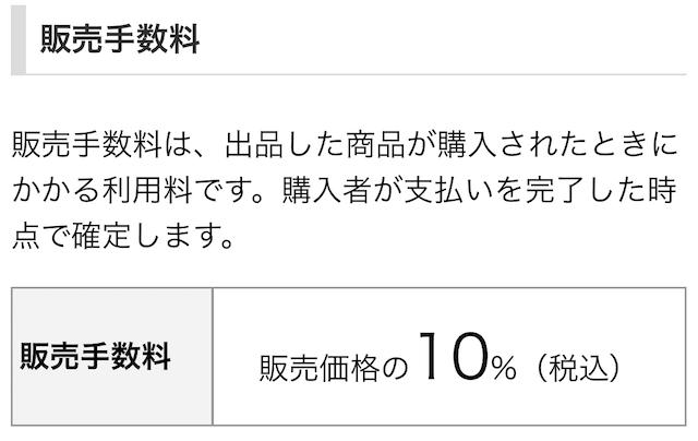 PayPayフリマ販売手数料