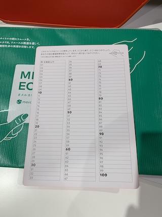 メルカリエコパック封入の日本地図カード2