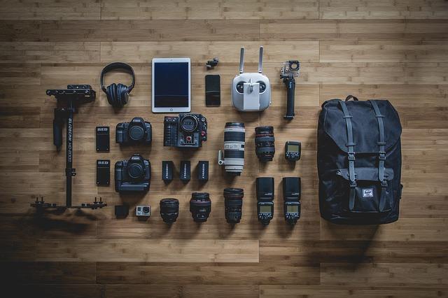 カメラと付属品