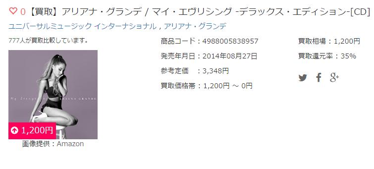 【買取】アリアナ・グランデ / マイ・エヴリシング -デラックス・エディション-[CD]
