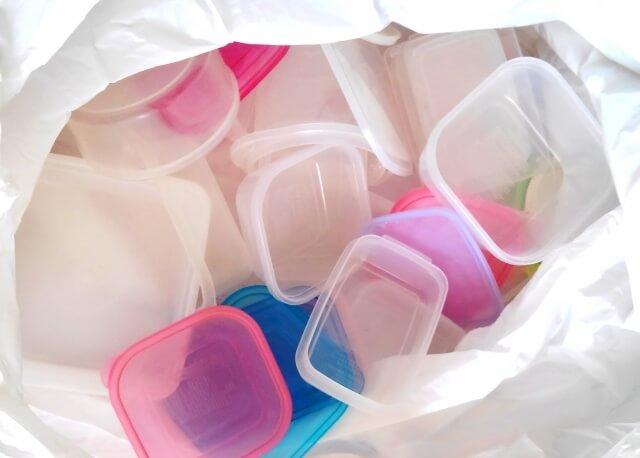プラスチックのゴミ