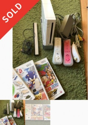 Wii本体とカセット三本セット