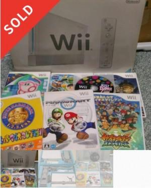 Wii本体、マリオカート、イナズマ等