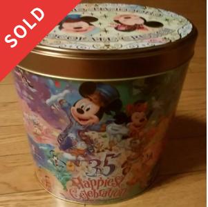 ディズニー35周年 チョコクランチの空き缶